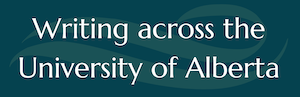 Logo image: Writing across the University of Alberta